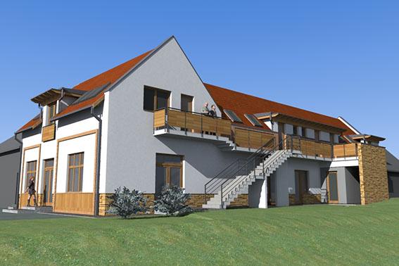 4 Diősjenő lakóépület tervezés turisztika